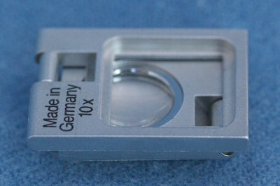 Thread Counter with tenfold magnification, metal