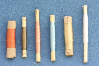 plant-dyed silk thread, 50 m
